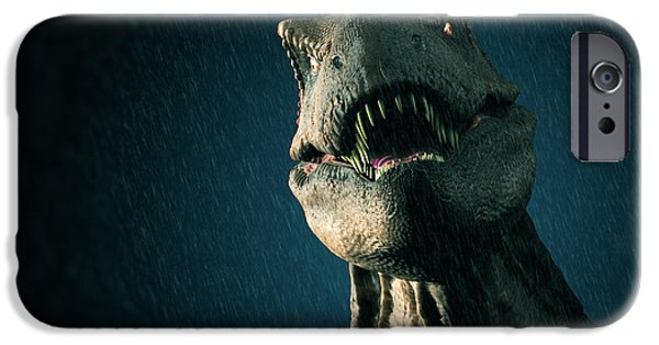 T Rex iPhone Cases - Tyrannosaurus Rex iPhone Case by Science Picture Co