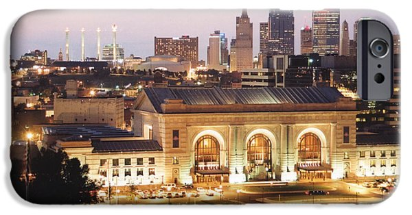 City Scape iPhone Cases - Union Station Evening iPhone Case by Crystal Nederman