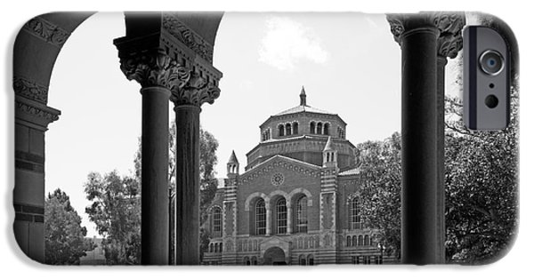 Honorarium iPhone Cases - University of California Los Angeles Powell Library iPhone Case by University Icons