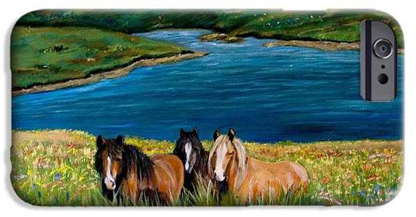 Horse iPhone Cases - Unknown iPhone Case by Tricia Winwood