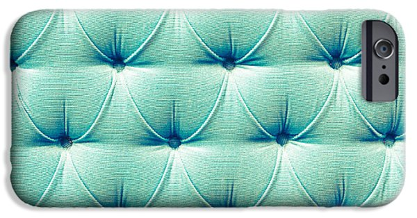 Abstract Fashion Art iPhone Cases - Upholstery background iPhone Case by Tom Gowanlock