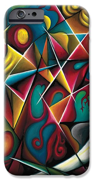 Abstract Expressionist iPhone Cases - Upwards Through The Brambles iPhone Case by Tiffany Davis-Rustam
