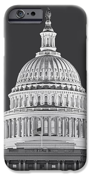 D.c. iPhone Cases - US Capitol Dome iPhone Case by Susan Candelario