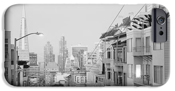 San Francisco Street iPhone Cases - Usa, California, San Francisco iPhone Case by Panoramic Images
