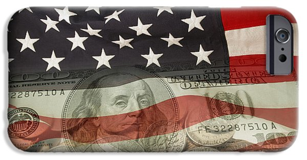 Finance iPhone Cases - USA finance iPhone Case by Les Cunliffe