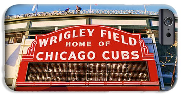 Wrigley Field iPhone Cases - Usa, Illinois, Chicago, Cubs, Baseball iPhone Case by Panoramic Images