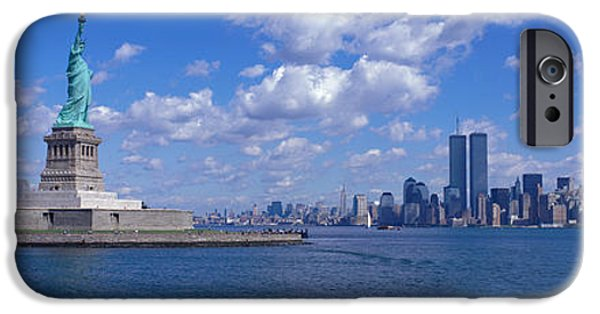 Liberation iPhone Cases - Usa, New York, Statue Of Liberty iPhone Case by Panoramic Images