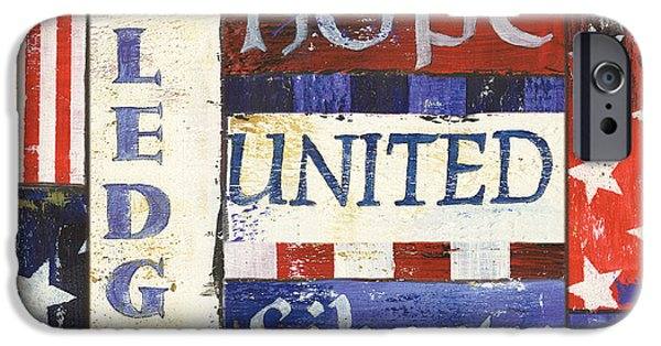 Liberty Paintings iPhone Cases - USA Pride 1 iPhone Case by Debbie DeWitt
