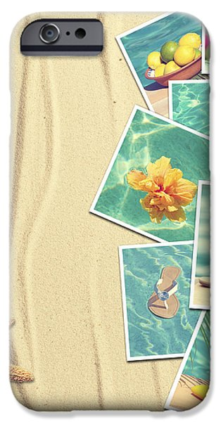 Vacation Postcards iPhone Case by Amanda And Christopher Elwell