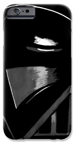 Black And White Art iPhone Cases - Vader iPhone Case by Dale Loos Jr