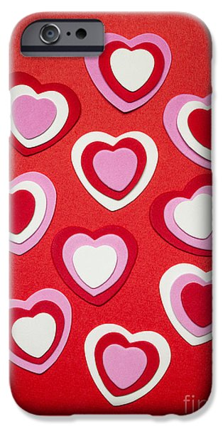 Day iPhone Cases - Valentines day hearts iPhone Case by Elena Elisseeva