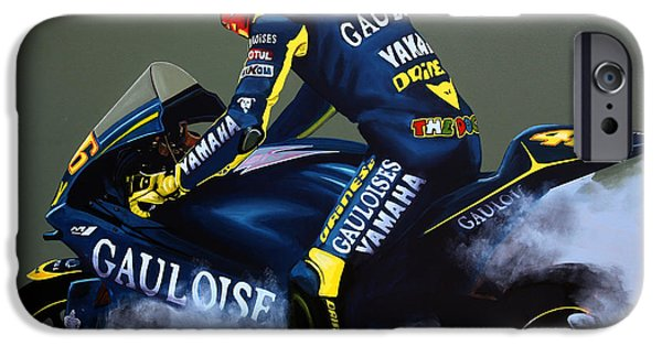 Racer iPhone Cases - Valentino Rossi iPhone Case by Paul  Meijering
