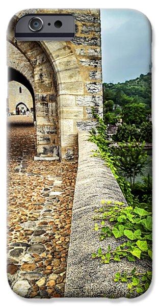 Valentre bridge in Cahors France iPhone Case by Elena Elisseeva
