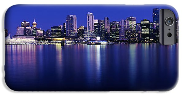 Recently Sold -  - Built Structure iPhone Cases - Vancouver Skyline At Night, British iPhone Case by Panoramic Images