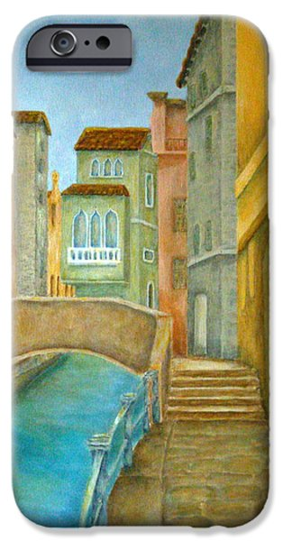 Venetian Balcony iPhone Cases - Venezia iPhone Case by Pamela Allegretto