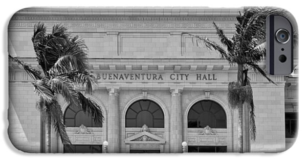 Ventura California iPhone Cases - Ventura City Hall iPhone Case by Mountain Dreams