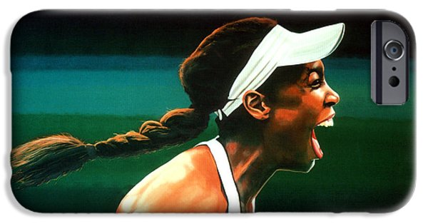 Atp World Tour iPhone Cases - Venus Williams iPhone Case by Paul  Meijering