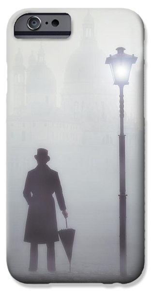 Fog Mist iPhone Cases - Victorian Man iPhone Case by Joana Kruse