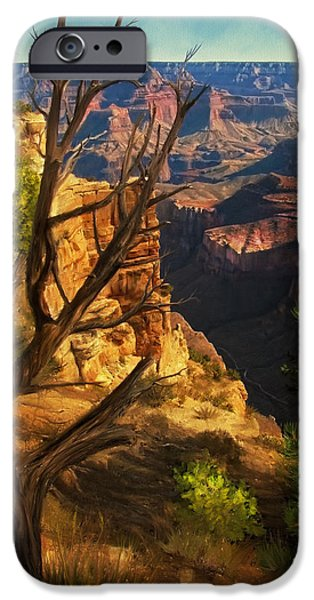 Grand Canyon Digital Art iPhone Cases - View from South Rim iPhone Case by Dale Jackson