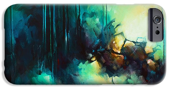 Abstract Expressionist iPhone Cases - visions iPhone Case by Michael Lang