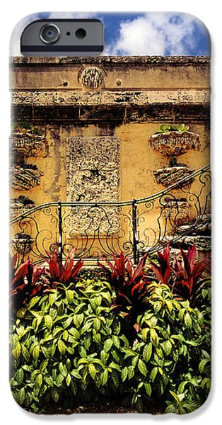 Vizcaya Museum and Gardens Biscayne Bay Miami Florida iPhone Case by Amy Cicconi