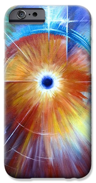 Black Hole Paintings iPhone Cases - Vortex iPhone Case by James Christopher Hill