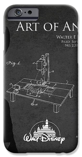 Walt Disney Patent from 1936 iPhone Case by Aged Pixel
