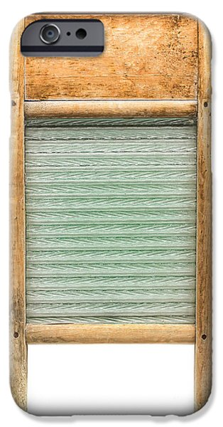 Appliance iPhone Cases - Washboard iPhone Case by Olivier Le Queinec