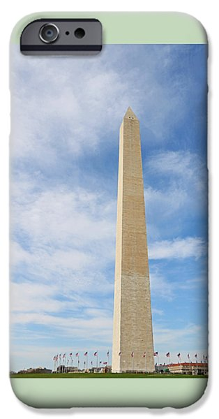 Patriots iPhone Cases - Washington Monument iPhone Case by Allen Beatty