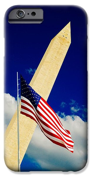 President iPhone Cases - Washington Monument iPhone Case by Bob Pardue
