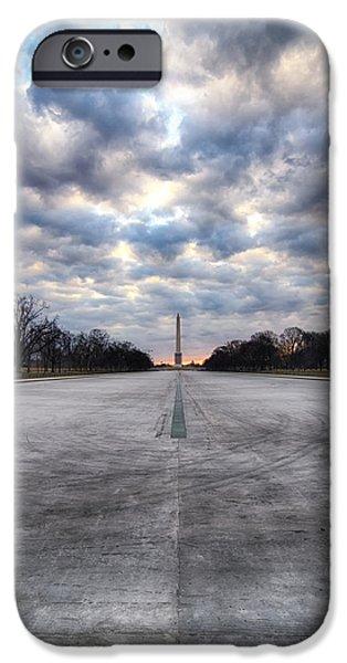 D.c. iPhone Cases - Washington Monument iPhone Case by Daniel Potter