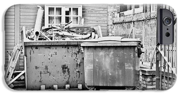 Dump iPhone Cases - Waste skip iPhone Case by Tom Gowanlock