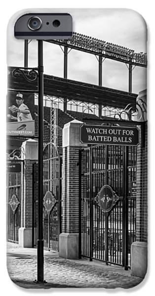 Camden Yards Stadium iPhone Cases - Watch Out For Batted Balls iPhone Case by Susan Candelario