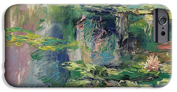 Waterlily iPhone Cases - Water Lilies iPhone Case by Michael Creese
