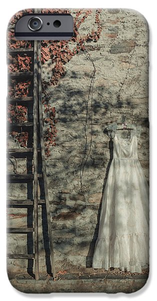Coat Hanger iPhone Cases - Wedding Dress iPhone Case by Joana Kruse