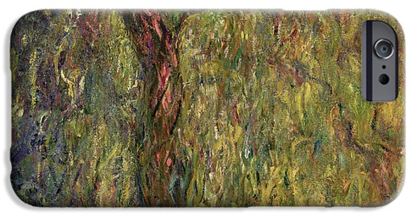 Weeping iPhone Cases - Weeping Willow iPhone Case by Claude Monet