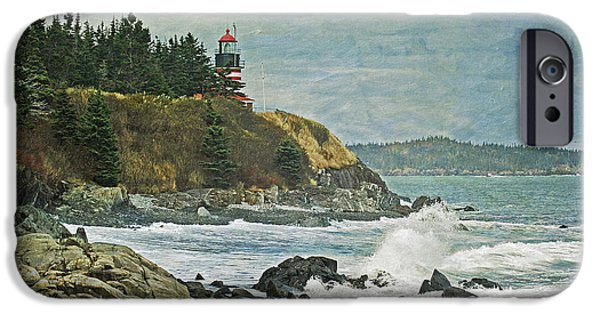 West Quoddy Head Lighthouse iPhone Cases - West Quoddy Head Lighthouse iPhone Case by Cindi Ressler