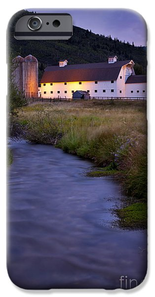 White Barn iPhone Case by Brian Jannsen
