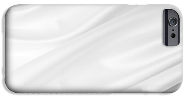 Silk iPhone Cases - White silk iPhone Case by Les Cunliffe