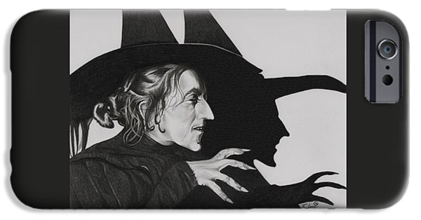 Storm Drawings iPhone Cases - Wicked Witch of the West iPhone Case by Fred Larucci