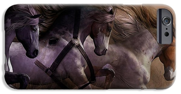 Horse iPhone Cases - Wild Horses iPhone Case by Marvin Blaine