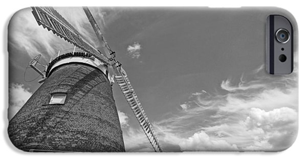 Village iPhone Cases - Windmill In The Sky iPhone Case by Gill Billington