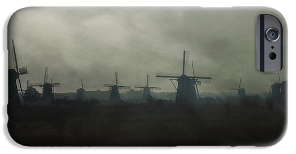 Mill iPhone Cases - Windmills iPhone Case by Joana Kruse
