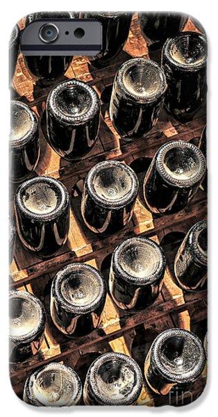Winetasting iPhone Cases - Wine bottles iPhone Case by Elena Elisseeva