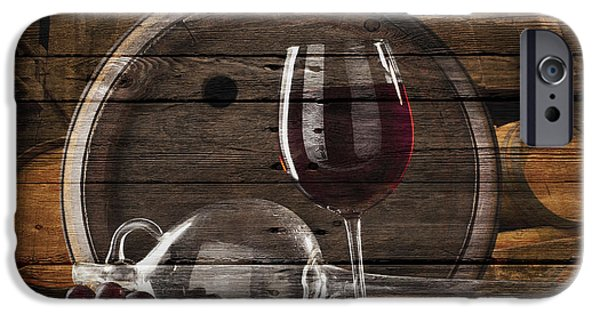 Glass Of Wine iPhone Cases - Wine iPhone Case by Joe Hamilton