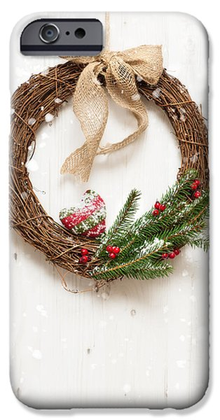 Celebration Photographs iPhone Cases - Winter Garland iPhone Case by Amanda And Christopher Elwell