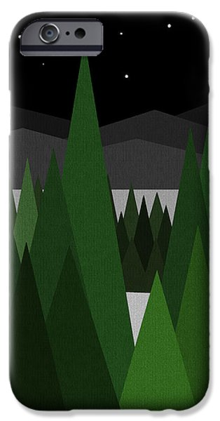 Winter Night iPhone Case by Val Arie