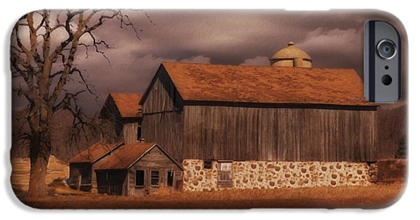 Crops iPhone Cases - Wisconsin Barn iPhone Case by Jack Zulli