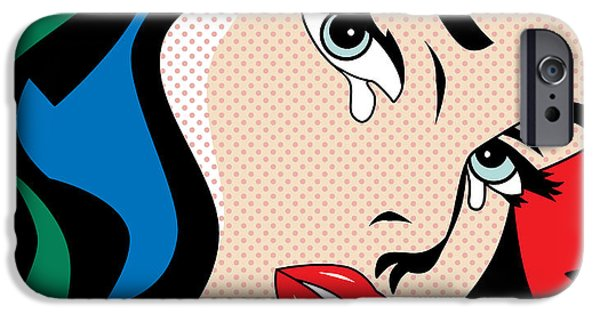 Caricature Digital Art iPhone Cases - Wonder Woman iPhone Case by Mark Ashkenazi