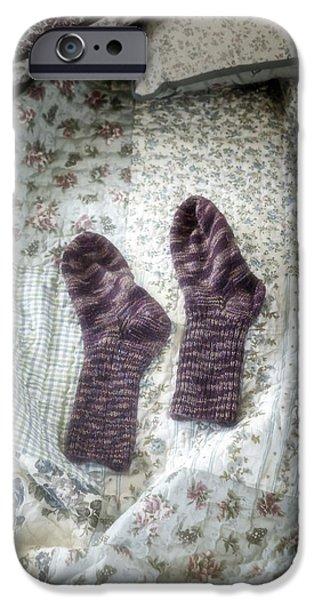 woollen socks iPhone Case by Joana Kruse